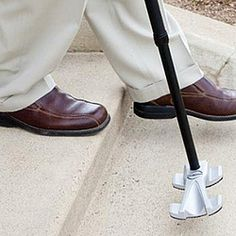 Strong, innovative cane tip with heavy-duty traction promotes steady balance and correct posture, maintaining your natural movement while walking!