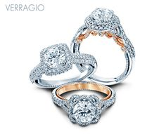 New engagement rings from Insignia and Couture Collections. Verragio Rings, Verragio Engagement Rings, Engagement Ring Styles, Wedding Jewelry, Wedding Rings, Glitter Wedding, Types Of Rings, Dream Ring, Diamond Are A Girls Best Friend