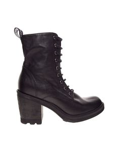 Image 1 of Bronx Lace Up Heeled Worker Ankle Boots