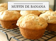 Muffin de banana | CAROL BUFFARA