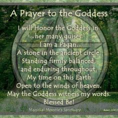 To the Goddess