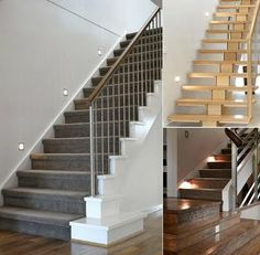 Simple staircase footlight idea