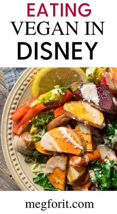 Don�t let the turkey legs and Mickey Ice cream fool you, Disney loves vegetarian guests. In nearly every shop and restaurant there is a Vegan/Vegetarian option. #vegan #healthy #recipes #food #healthyrecipes Disney Tips, Disney Food, Disney Planning, Disney Travel, Walt Disney, Disney Vacations, Vegetarian Options, Vegan Vegetarian, Vegetarian Recipes