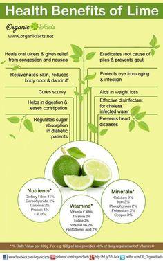 Beneficios saludables de la lima