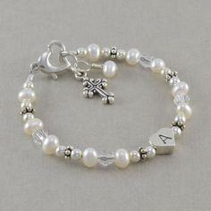 Baptism+Bracelet+baby+christening+pearl+by+SixSistersBeadworks,+$42.00