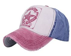 Five Star Vintage Patchwork Adjustable Twill Cotton Super Cool Summer Outdoor Baseball Cap Wash Wine Red/Jean Blue Home Prefer http://www.amazon.com/dp/B00UZ38AQ8/ref=cm_sw_r_pi_dp_V-irwb1HTY8HQ