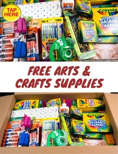Save on arts & crafts supplies with free samples from Crayola, Sharpie, Scotch, & more at Get It Free! #GetCrafting