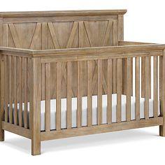 Franklin&Ben EMORY Farmhouse 4 in 1 Convertible Crib - Driftwood Baby Nursery Rugs, Baby Bedroom, Baby Boy Rooms, Farmhouse Nursery Furniture, Farmhouse Cribs, Kids Furniture, Rustic Baby Cribs, Best Baby Cribs, Woodland Nursery Girl