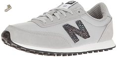 New Balance Women's 410 Lifestyle Fashion Sneaker, Silver Mink/Black, 9 B US - New balance sneakers for women (*Amazon Partner-Link)