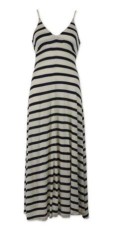 Polo Ralph Lauren: Robe longue style marin à porter sans aucune limite les jours de plage et en soirée, les pieds dans le sable...