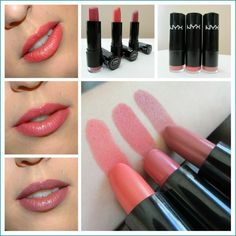 NYX Extra Creamy Round Lipsticks in Indian Pink, Tea Rose and Thalia, Review and Swatches: