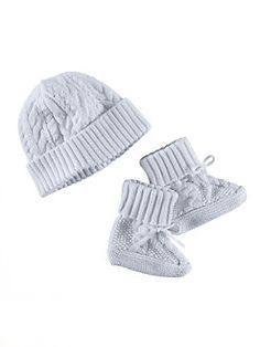 Ralph Lauren - Infant's Two-Piece Hat and Bootie Set