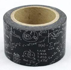 Washi Tape Negra pizarra