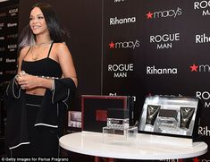 Rihanna - At the launch of her new fragrance line 'Rogue Man' in Macy's in Atlanta.  (October 2014)