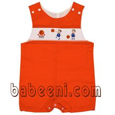 Smocked boy clothing - smocked jumper at http://babeeni.com/