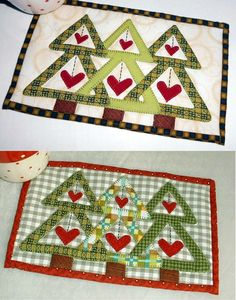 Trees are not just for Christmas - they look good anytime of the year, especially when sat on your work-desk. Another pattern from the Patchsmith's Christmas Mug Rugs book.
