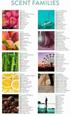 Scent Families! Schedule your Blending Bar to take out scent profile quiz to see which areas you love most to create your scent bathologie.com/sweet essence