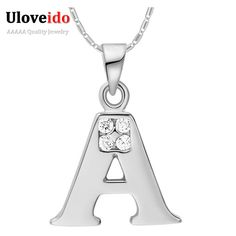 Find More Pendants Information about pingentes carta colar Letter 925 Silver CZ A B C D E F G H I G K L M N O P Q R S T U V W X Y Z Pendants for Men and Woman Bijoux,High Quality pendant heart,China pendant alphabets Suppliers, Cheap silver anklet from Ulovestore Fashion Jewelry on Aliexpress.com
