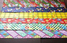 This is a set of 6 sheets Japanese chiyogami paper.  Pattern design included Japanese Temari, shochikubai, sakura, chrysanthemum, and Japanese traditional motif  Perfect for scrapbook, origami, decoupage and any other type of paper crafting projects! Perfect for collage jewelry, handmade boxes, book binding, glass tile art work and gift wrapping as well!  Size:30cmx31cm(11.8in x 12.2in) Quantity: 6 sheets Made in Japan