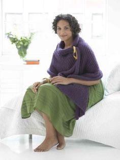 Free Knitting Pattern - Women's Shrugs, Wraps & Capes: Broome Street Shawl