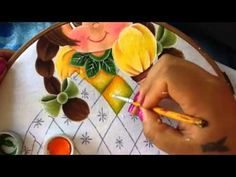 Pintura en tela niña piña # 5 con cony