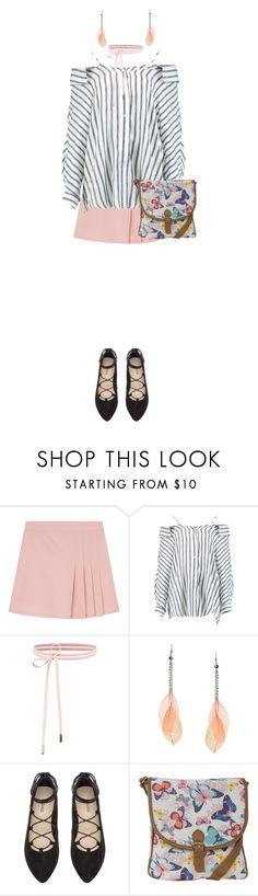 """Florist"" by carrie-lynn ❤ liked on Polyvore featuring Boohoo, Lipsy, H&M and Pilot"