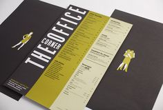 The Corner Office menu design.