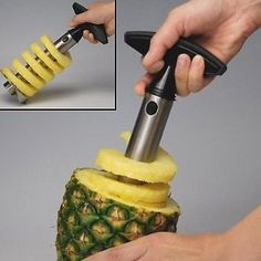 Save time cutting pineapple. I love this tool!