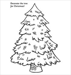 How to decorate a christmas tree template ideas Christmas Tree Outline, Christmas Ornament Template, Christmas Tree Printable, Christmas Tree Coloring Page, Christmas Tree Drawing, Cute Christmas Tree, Christmas Tree Design, Christmas Templates, Christmas Images