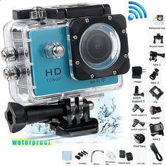 SJ4000 Full HD 1080P WiFi 30M Waterproof Helmet Sports DV Action Camera as Gopro
