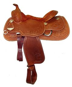 """15 1/2"""" Duane Latimer Reining Saddle from Bob's Custom Saddles   Pards Western Shop - Boots, Saddles, Tack and Western Wear > Products"""