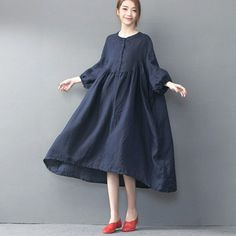 Spring/Autumn Loose Linen Long Dress