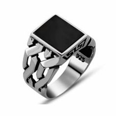 Jewelry Men square-modern-onyx-ring - Square Modern Onyx Men Ring Hand Made Red Aqeeq Ring by Boutique Ottoman Turkish jewelry online store. Made in Turkey silver men rings with aqeeq stone. Cool Rings For Men, Rings Cool, Men Rings, Stone Rings For Men, Unique Rings, Sterling Silver Mens Rings, 925 Silver, Gold Chains For Men, Turkish Jewelry