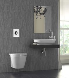Showerwall Infinity Whispering Grass Metallic Grey Bathroom Wall With Basin