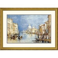 Global Gallery 'The Grand Canal, Venice' by Joseph M.W. Turner Framed Painting Print Size: 2