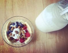 My homemade coconut yogurt kefir is making me feel cultured and capable ;) Enjoying it with some fresh fruit and dried mulberries. Homemade Coconut Yogurt, Aip Diet, Enjoy It, Kefir, Fresh Fruit, Oatmeal, Clean Eating, Treats, Breakfast