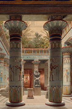 Egyptian Temple, Ancient Egyptian Art, Ancient History, Art History, Ancient Egyptian Architecture, Egypt Art, Fantasy Landscape, Ancient Civilizations, Archaeology