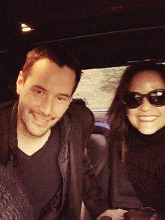 Keanu Reeves e a irmã Kim, em uma viagem a Itália, em 2014.