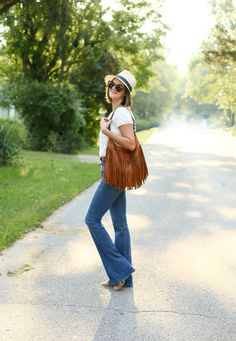 High Rise Jeans, Frame Denim, Stars + Field hat, Jessica Quirk, Modern 70s