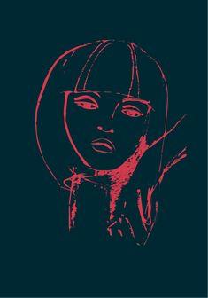 #art #portrait #digital #duotone #girl Duo Tone, Art Work, My Arts, Darth Vader, Portrait, Digital, Drawings, Prints, Painting