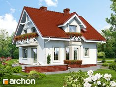 Dom w rododendronach (P) Home Fashion, House Plans, Farmhouse, Cabin, Mansions, House Styles, Home Decor, Blueprints For Homes, Mansion Houses