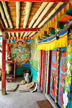 Tibetan monastery, home decor ideas for remodel or refurbish inspiration