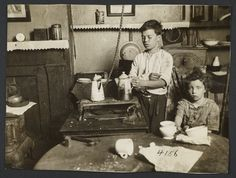 Widow at Work. Jimmie Kept Out of School by Hiram Myers.