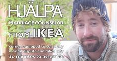 (VIDEO) HJÄLPA: IKEA's New Assemble-It-Yourself Marriage Counselor