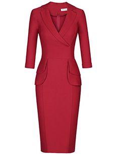 MUXXN Women's 3/4 Sleeve Bodycon Dress Vintage 1930s Dres... https://www.amazon.com/dp/B01N6JO2HU/ref=cm_sw_r_pi_dp_x_2fK8ybCHKXY26