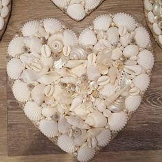 Seashell Heart Beach Decor Nautical Decor Wedding Decor