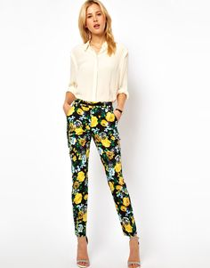 Floral trousers?