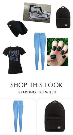 """""""PANIC AT THE DISCO-by Caroline"""" by a-t-l-a-n-t-i-s ❤ liked on Polyvore featuring New Look and Herschel Supply Co."""