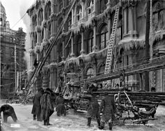 After a fire Thomas May's Building Montreal Old Montreal, Montreal Quebec, Baltimore City, Photo Vintage, Parcs, Fire Dept, Canada, Old City, Vintage Photography