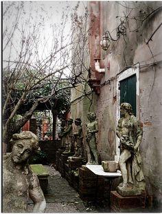 Graveyard of forgotten statues, Torcello, Venezia, Italy